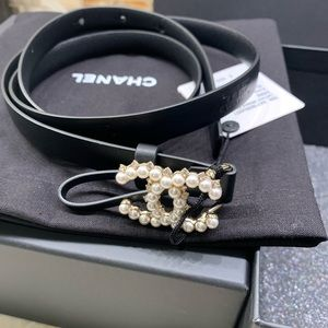 Chanel Black Pearly White & Crystal Belt